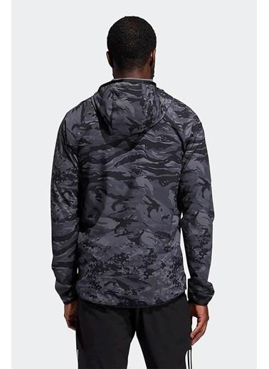 adidas Adidas Erkek Koşu - Yürüyüş Kapşonlu Sweatshirt Fl 3Bar Camo Fz Gl8926 Siyah